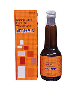 Apetamin Cyproheptadine Lysine and Vitamins Syrup